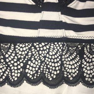 Kensie Intimates & Sleepwear - Kenzie S soft bra black/white stripes w/black lace